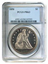 1850 $1 PCGS Proof 63