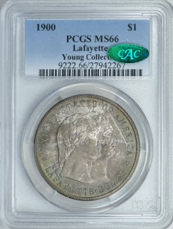 1900 $1 Lafayette PCGS MS66 CAC
